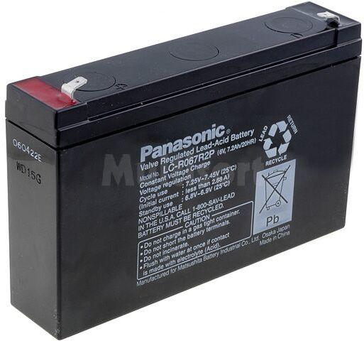 Akumulator kwasowo-ołowiowy PANASONIC 6V 7,2Ah żywotność 6-9 lat