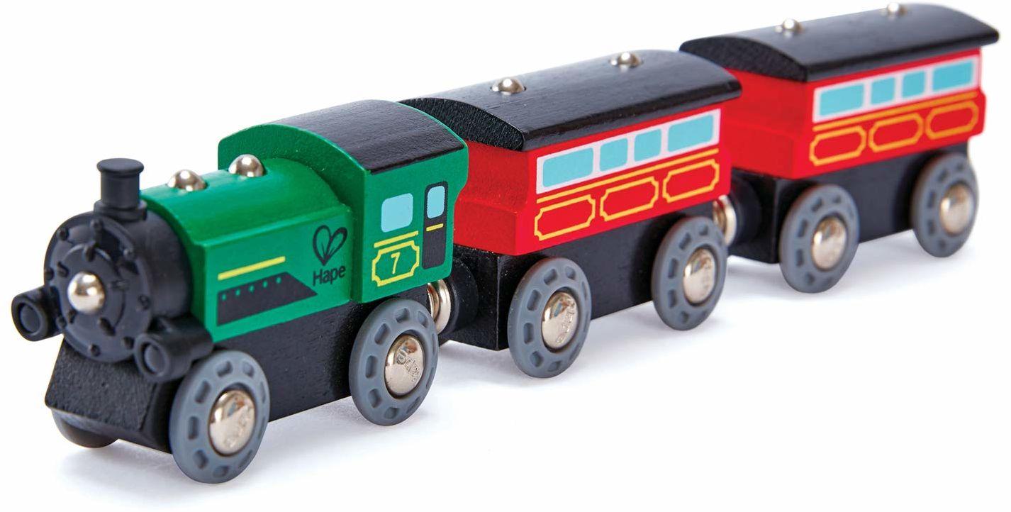Hape E3719 Steam-Era pociąg pasażerski - Akcesoria do torów drewnianych