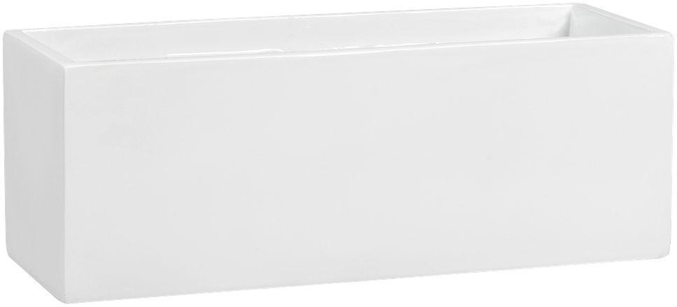 Donica z włókna szklanego D109AS biały połysk