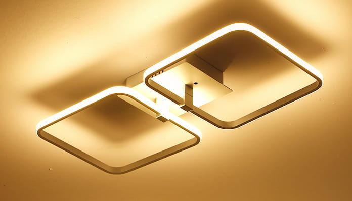 Inverted Squares 2 - plafon - lampa sufitowa LED 45x20cm