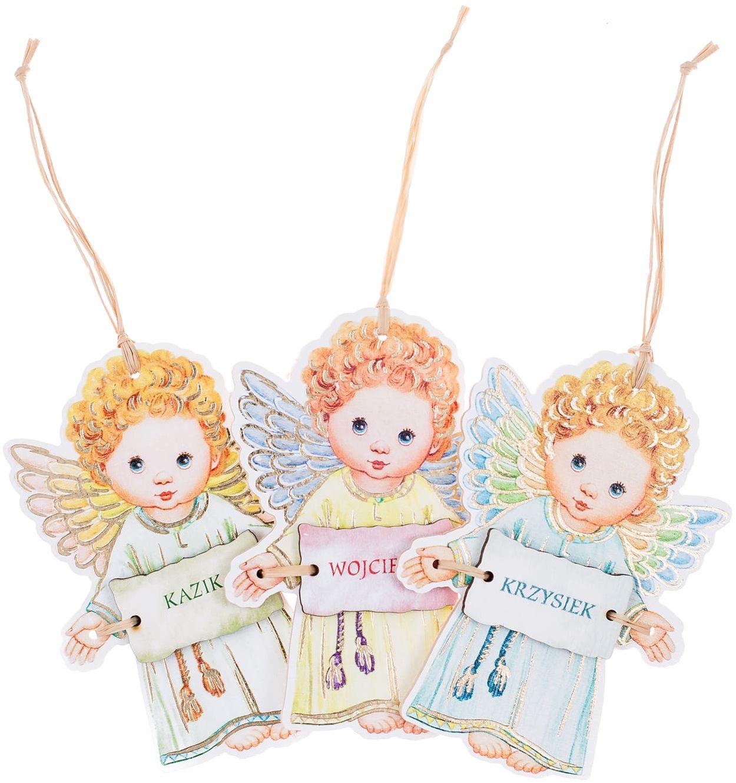 Aniołek zawieszka z imieniem dla chłopca