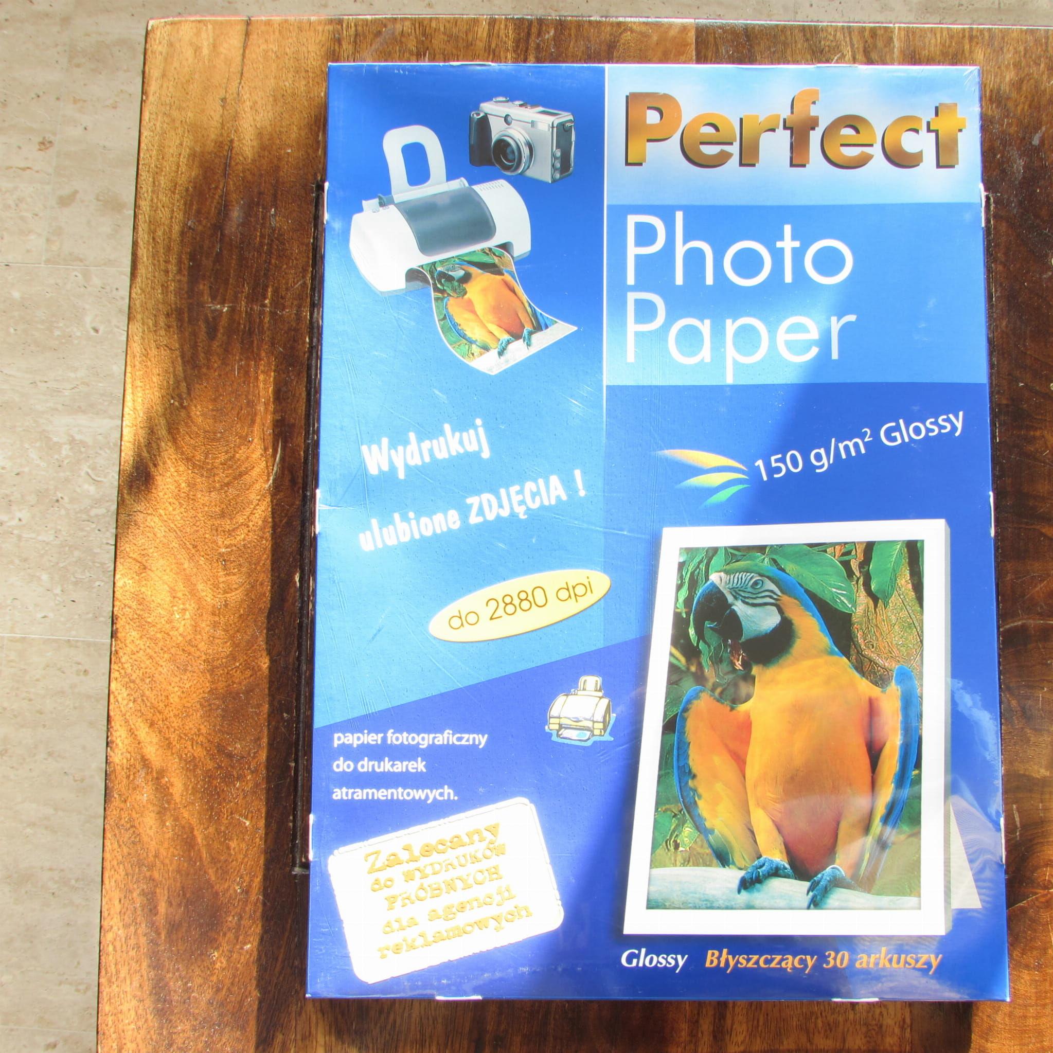 Papier fotograficzny Gloss Perfect Photo (biała) 150g 42x29,7 cm, w paczce 30ark przecena - 45%
