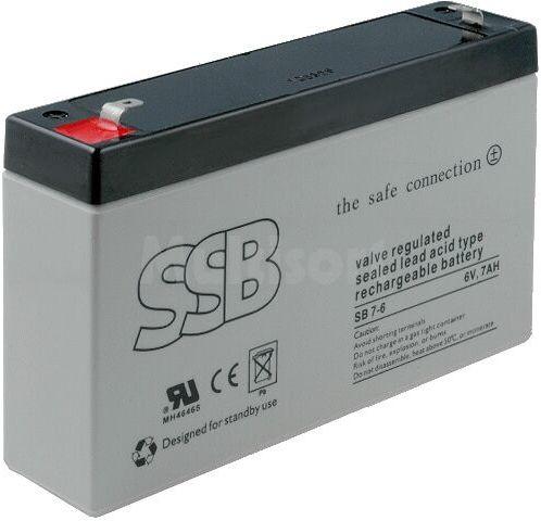 Akumulator kwasowo-ołowiowy SSB 6V 7Ah żywotność 6-9 lat