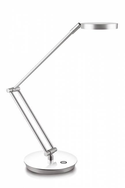 Lampka na biurko CEP CLED-400, srebrna z kolorową podstawą