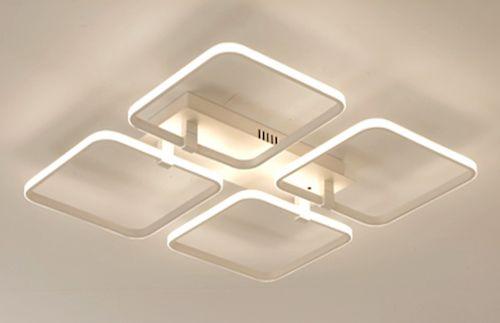 Inverted Squares 4 - plafon - lampa sufitowa LED 45x45cm