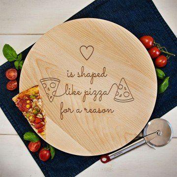 Heart pizza - Deska obrotowa
