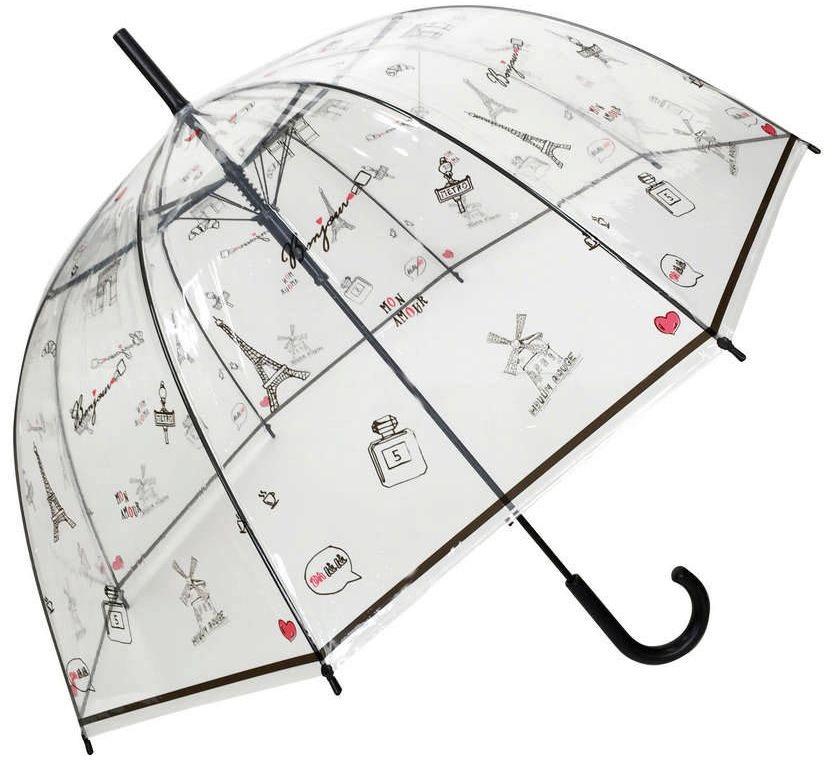 Smati - długi parasol - paris a la main - przeźroczysty w obrazki