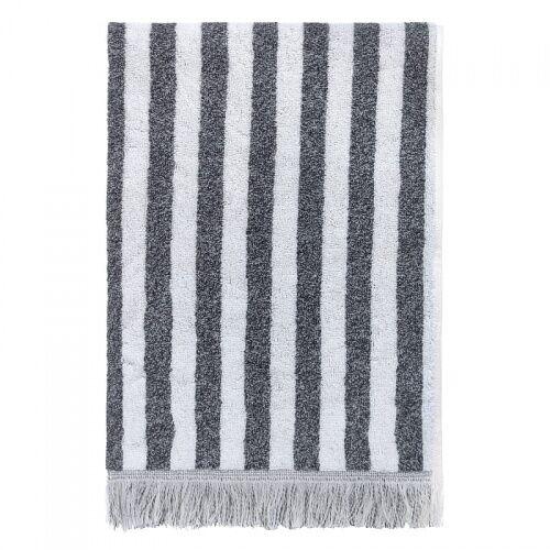 Ręcznik bawełniany Fence szary 50x100 Elvang
