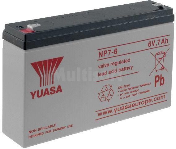 Akumulator kwasowo-ołowiowy YUASA 6V 7Ah żywotność 3-5 lat