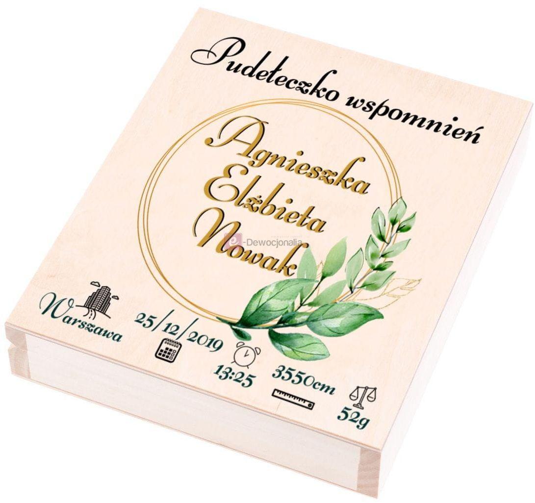EKO  pudełko wspomnień z nadrukiem UV - Pamiątka dzieciństwa Prezent