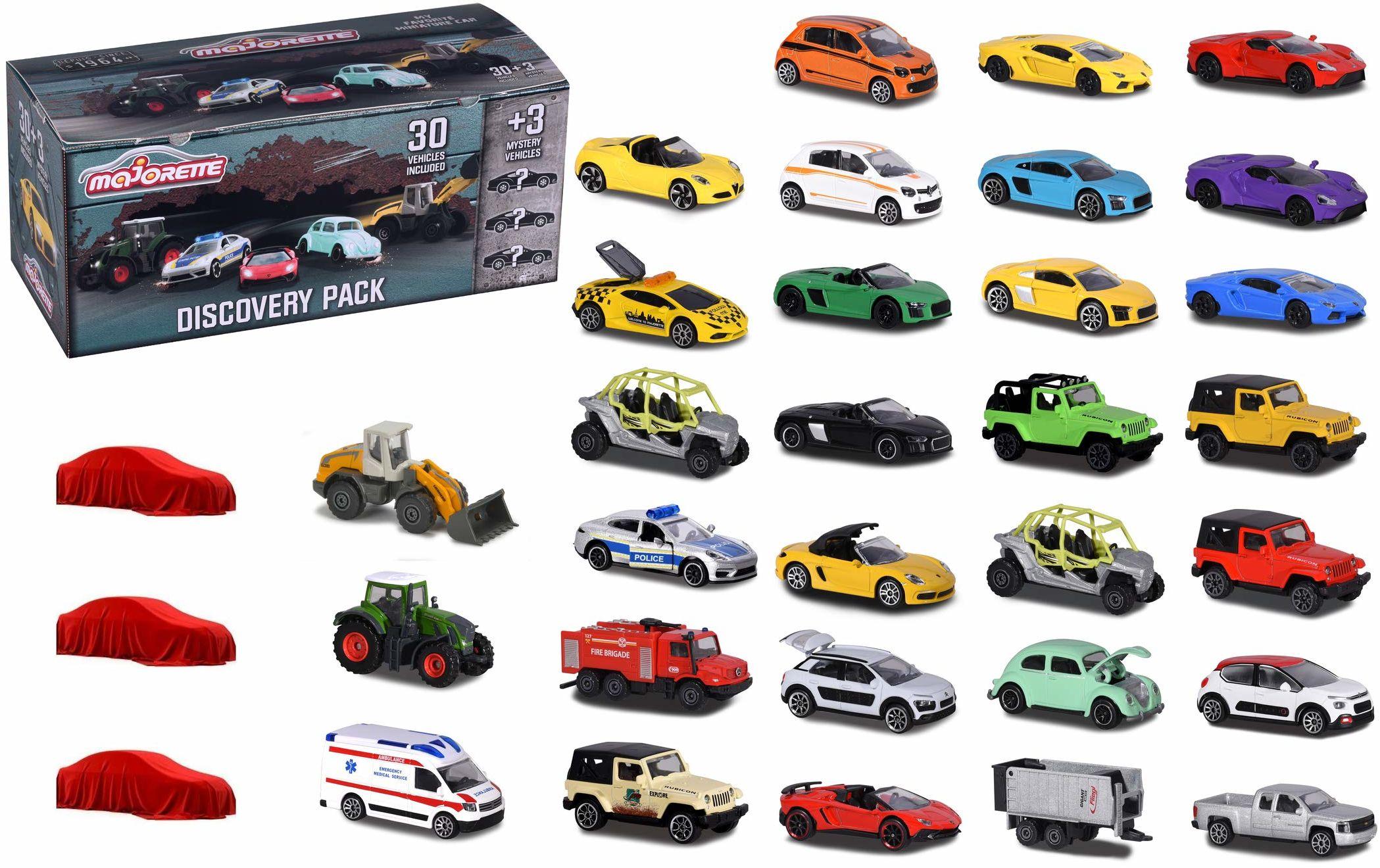 Majorette - Discovery Zestaw Zawiera 20 Pojazdów Drogowych, 10 Pojazdów Klasy Premium, 3 Super Specjalne Samochody, Wielokolorowy, 212058596