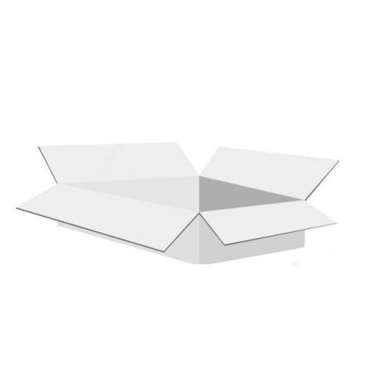 Karton klapowy tekt 3 - 260 x 170 x 70 biały 470g/m2 fala B