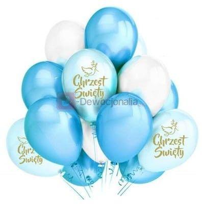 Zestaw balonów z okazji CHRZTU ŚWIĘTEGO baby blue