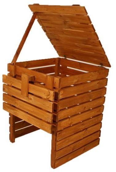 Kompostownik ogrodowy drewniany - 600l