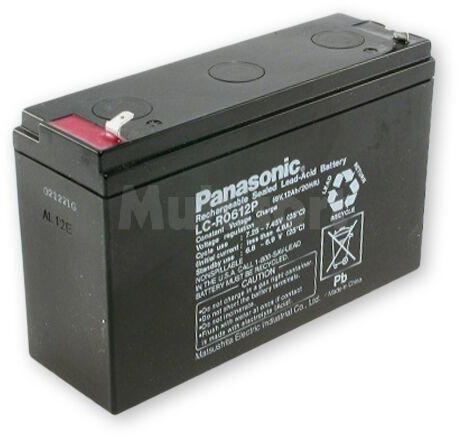 Akumulator kwasowo-ołowiowy PANASONIC 6V 12Ah żywotność 6-9 lat