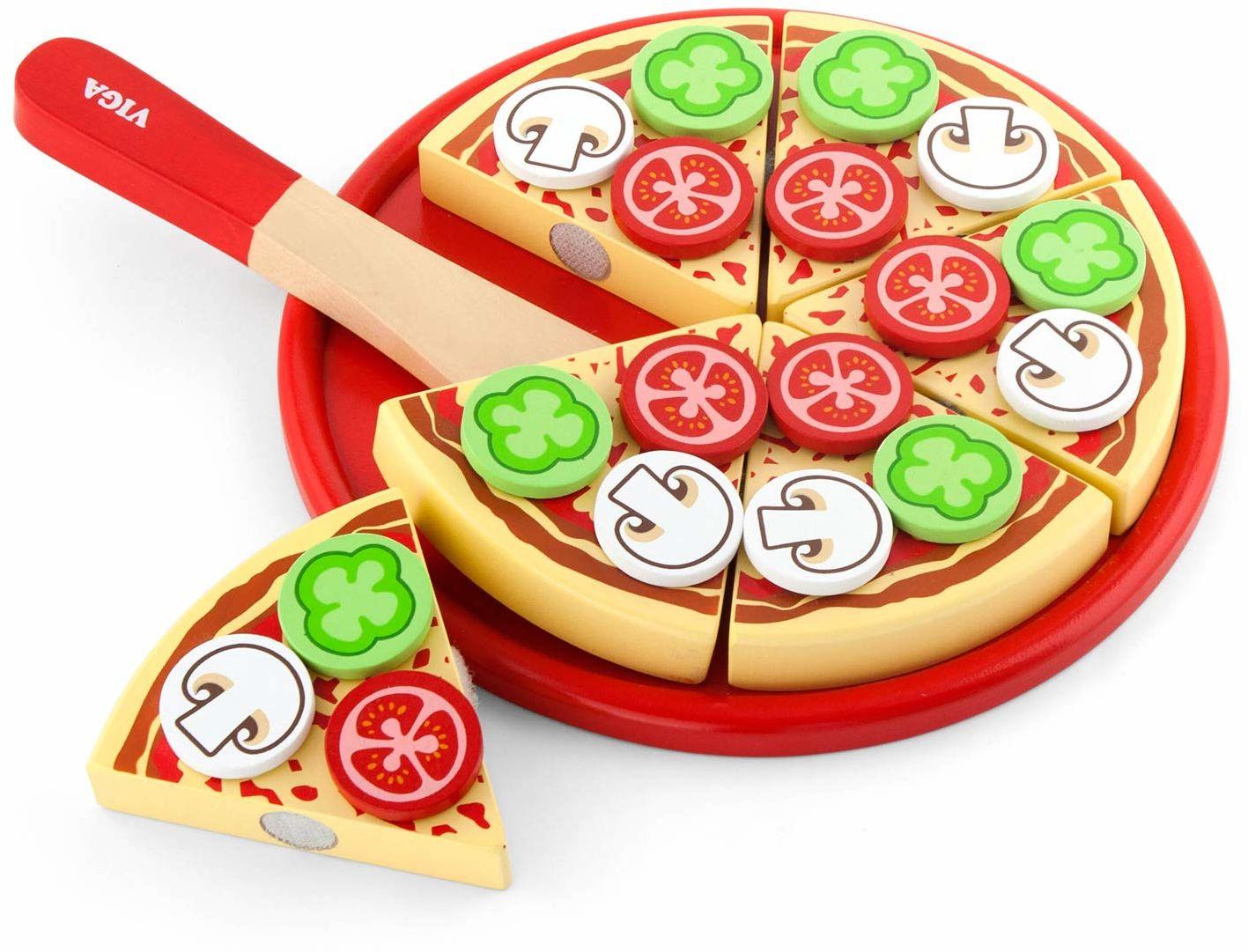 Viga Toys  zestaw do krojenia  pizza wegetariańska