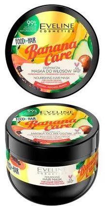 Eveline Food For Hair Banana Care maska do włosów ochrona koloru i odżywienie 500 ml