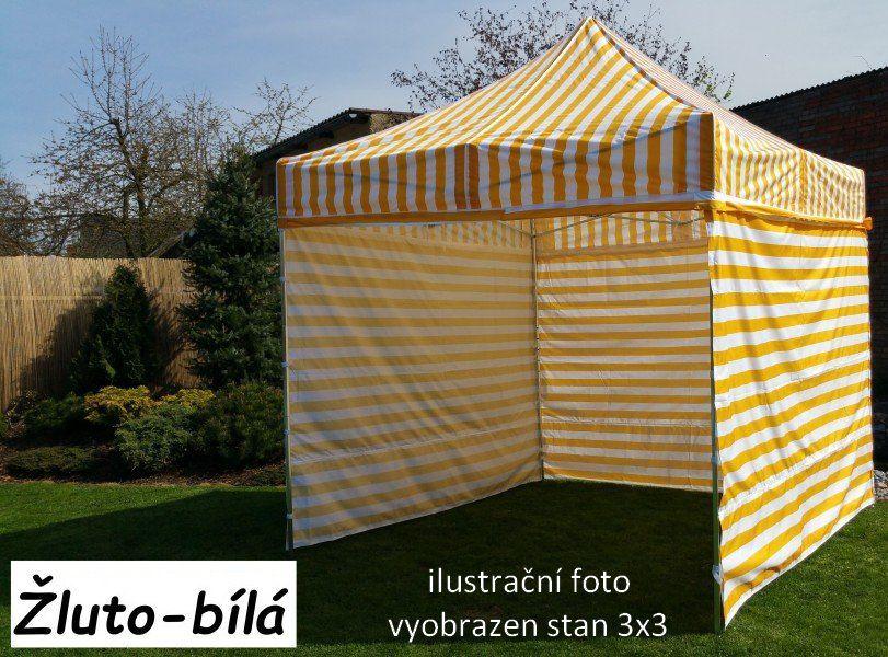 Ogrodowy namiot PROFI STEEL 3 x 4,5 - żółto-biały