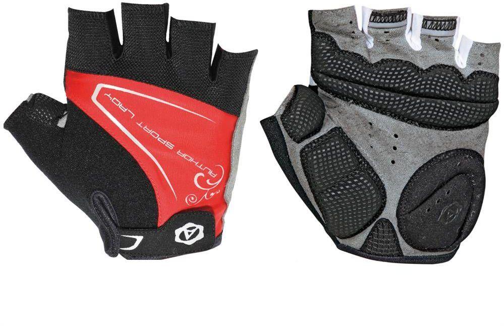 Rękawiczki rowerowe Author Lady Comfort Gel czarno-czerwone