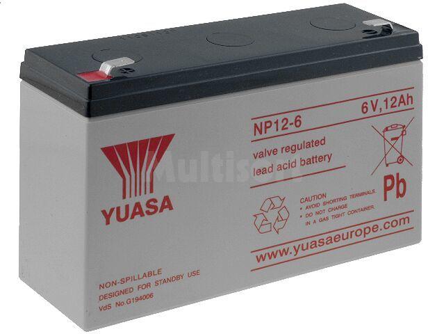 Akumulator kwasowo-ołowiowy YUASA 6V 12Ah żywotność 3-5 lat
