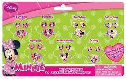 Joy Toy 71108 Minnie zestaw 7-dniowy kolczyki i pierścionki naklejka na karcie z tyłu