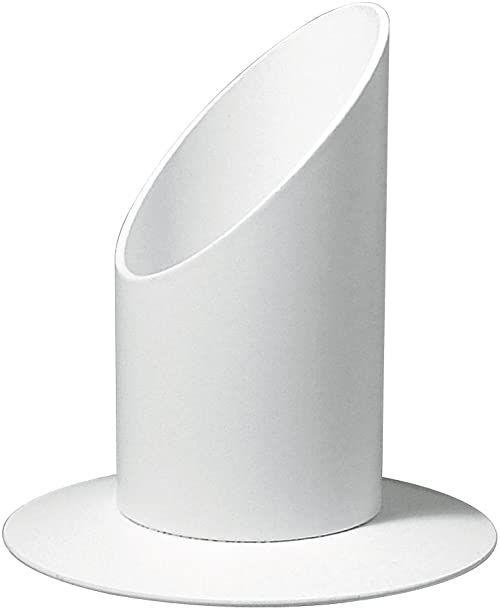 Rayher Świecznik z metalu, idealny do świec, świec bryłowych, świec stołowych, świec na chrzest i komunię - świecznik, świecznik, świecznik, Ø 30 mm, biały mat