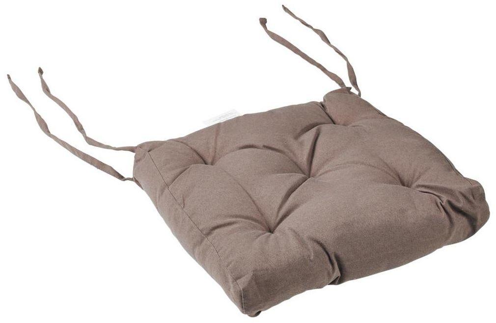 Poduszka na krzesło Luck ciemnoszara 40 x 40 x 6 cm Inspire