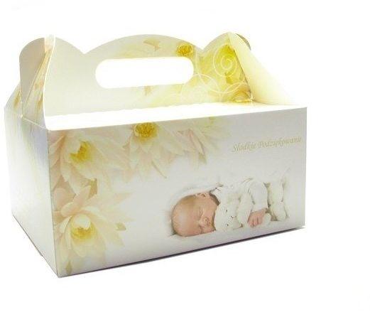 Pudełko na ciasto Chrzest Słodkie Podziękowania 1 sztuka CH01-1x