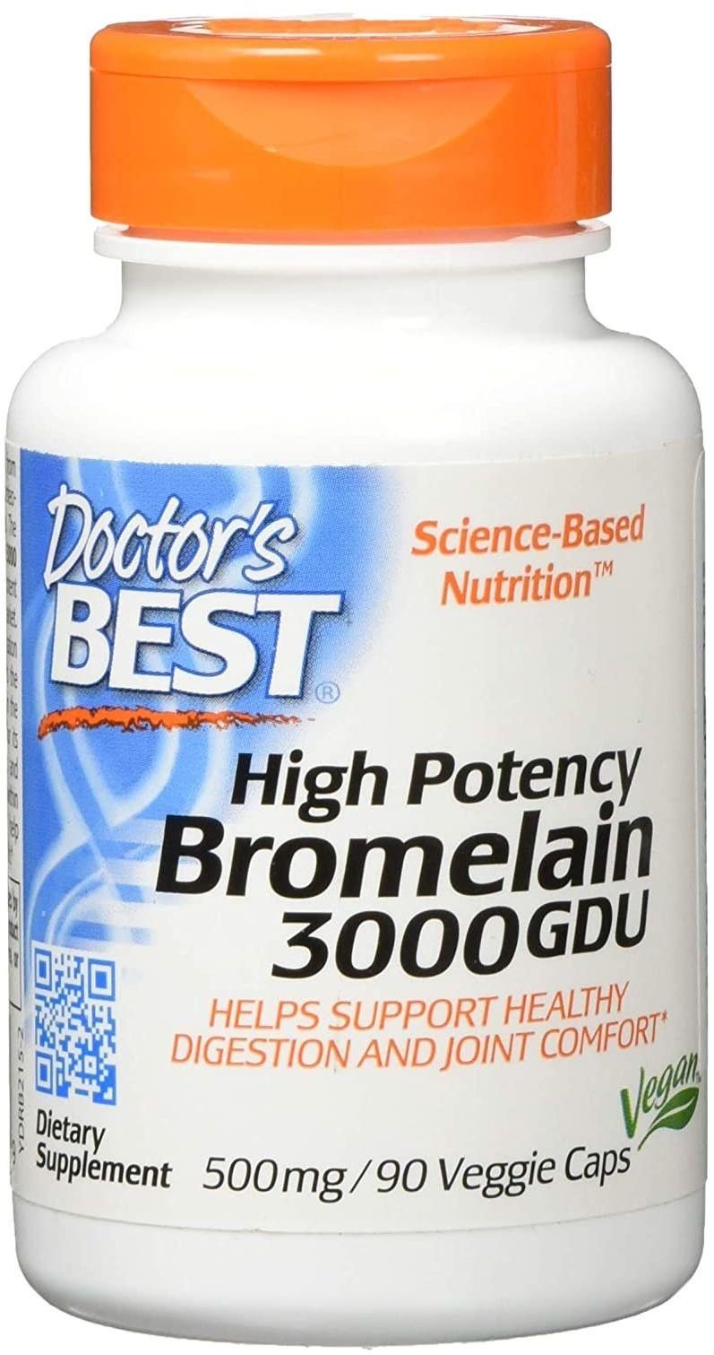 Doctor''s Best High Potency Bromelain 3000 GDU (Bromelaina) 90 Kapsułek wegetariańskich