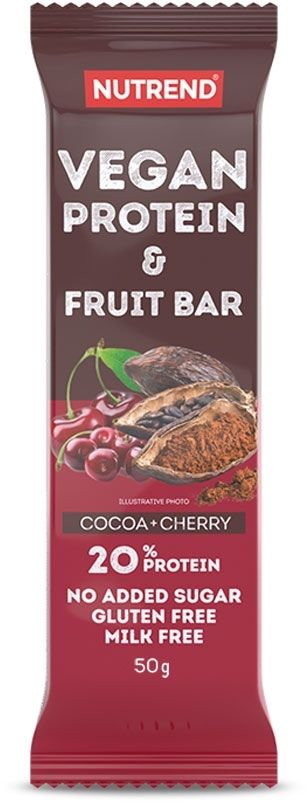VEGAN PROTEIN FRUIT BAR 50g kakao + wisnia
