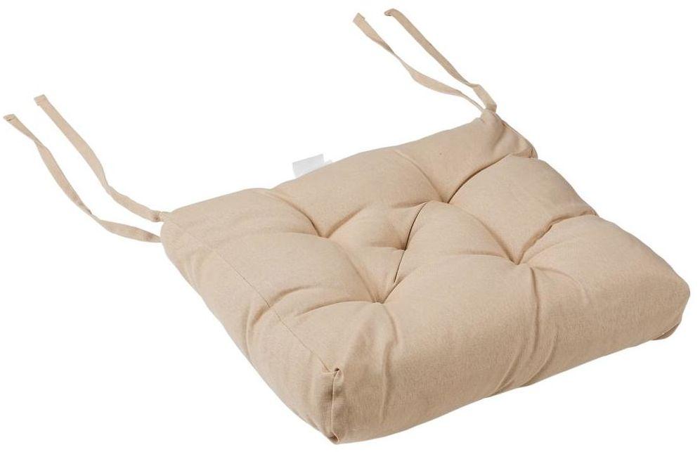 Poduszka na krzesło Luck beżowa 40 x 40 x 6 cm Inspire