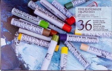Zestaw Pasteli Olejnych Okrągłych Renesans 36 Kolorów