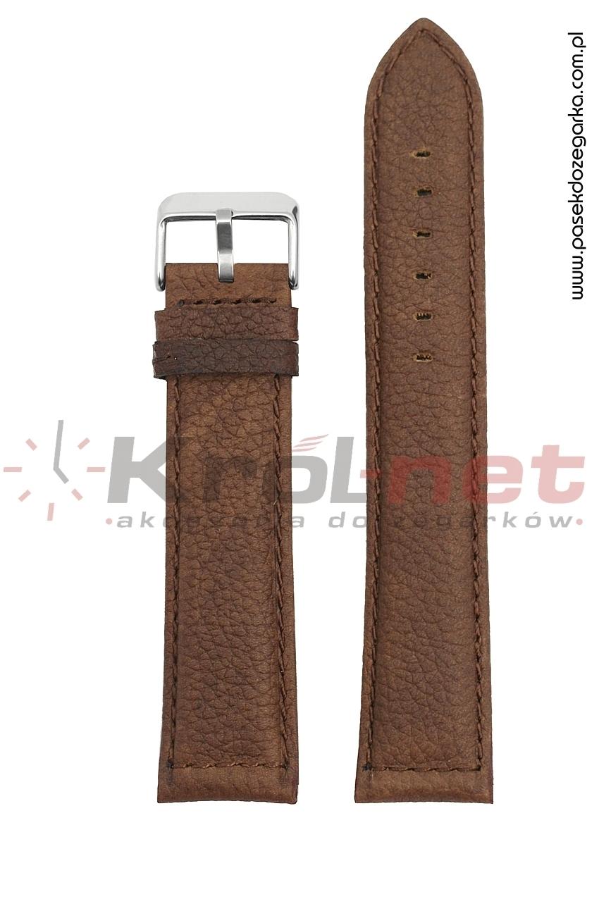 Pasek TK027BR/24XXL - brązowy, long