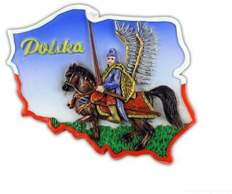 Magnes kontur Polska husarz