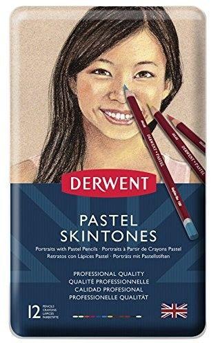 Kredki Pastelowe Cieliste Derwent Pastel 12 szt. (Metalbox)