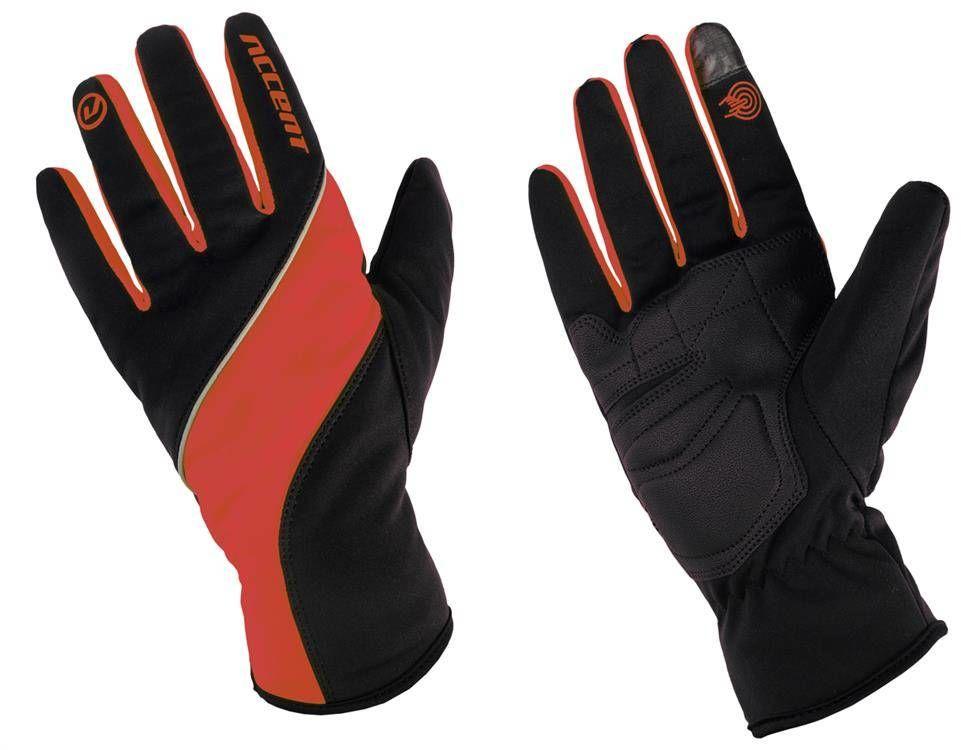 Rękawiczki ocieplane Accent Windstar czarno-czerwone S