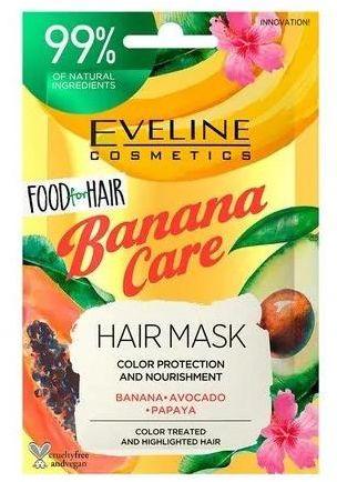 Eveline Food For Hair Banana Care maska do włosów ochrona koloru i odżywienie 20 ml