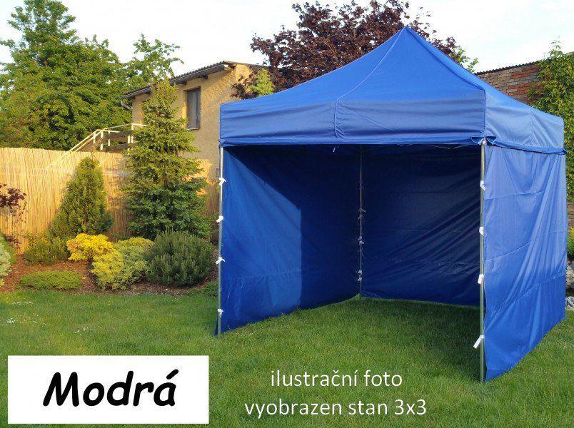 Namiot ogrodowy PROFI STEEL 3 x 4,5 - niebieski