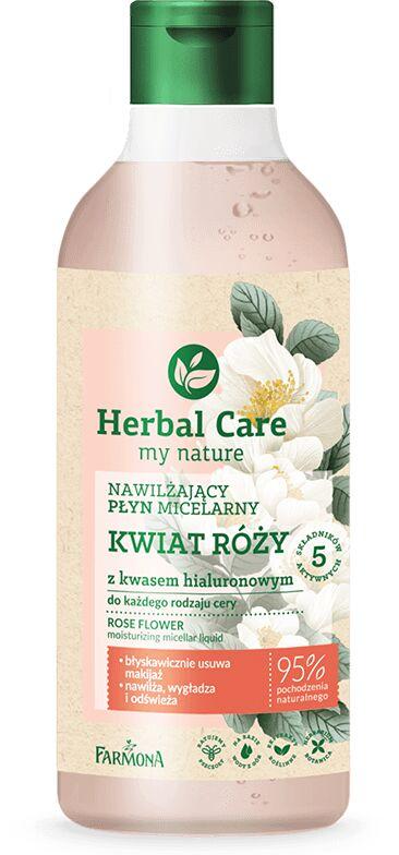 HERBAL CARE Płyn micelarny KWIAT RÓŻY z kwasem hialuronowym 400 ml