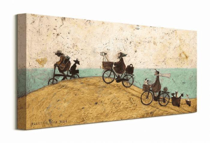 Electric Bike Ride - obraz na płótnie
