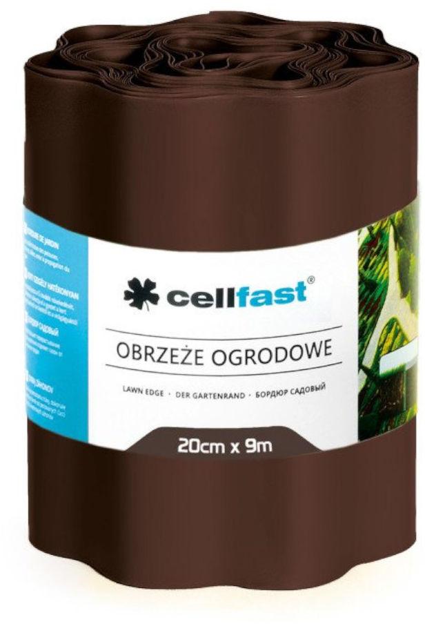Obrzeże ogrodowe faliste 20cm x 9m Cellfast brązowe