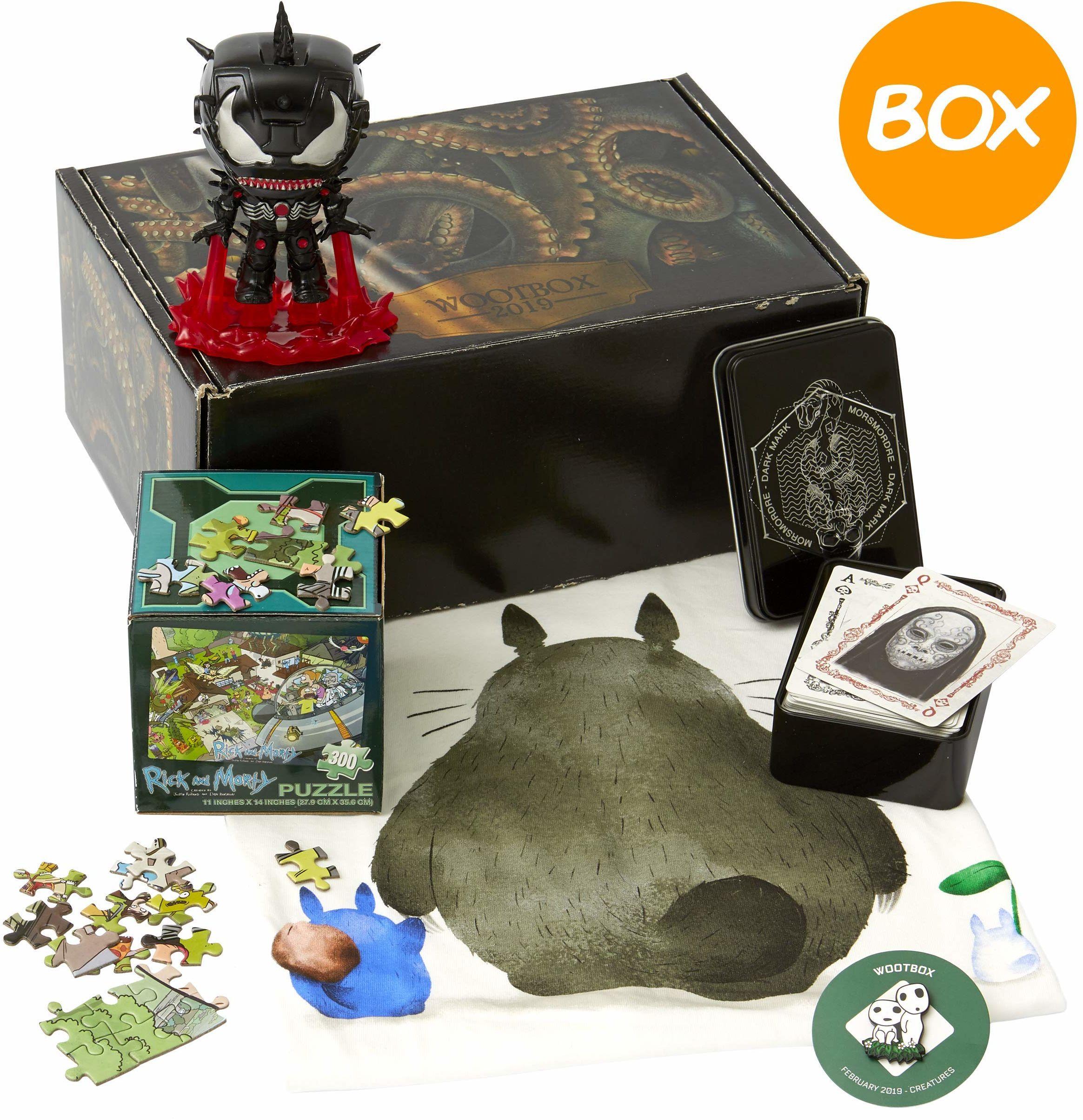 WOOTBOX - Kreaturen - pudełko na prezent - Marvel - Rick & Morty - Harry Potter - Rozmiar S Venom, WTB-2019-002-FR-00H-00S-000, czarne