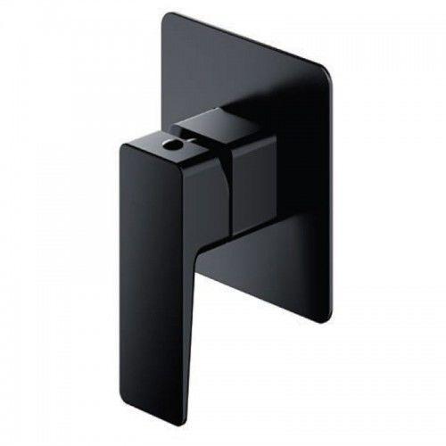 Bateria prysznicowa podtynkowa 11x11cm czarny mat,PARMA