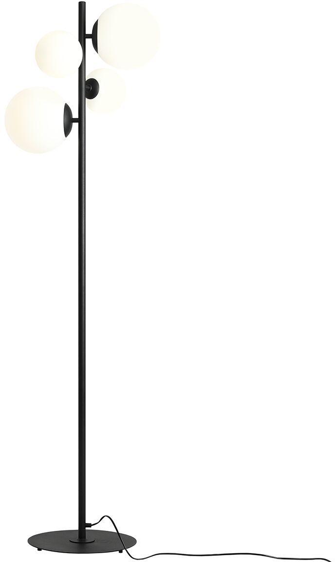 Lampa podłogowa BLOOM 1091A1 Aldex czarna oprawa w stylu nowoczesnym