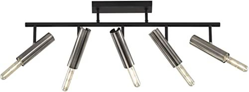Fischer & Honsel Dean metalowa lampa sufitowa, 25 W, czarna