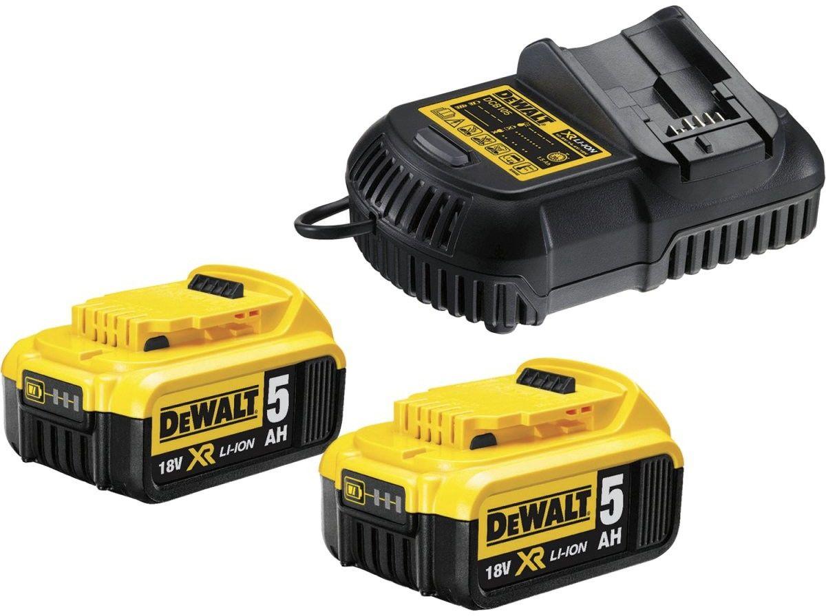 zestaw 2 akumulatory 18V Li-Ion 5,0Ah + ładowarka DeWALT [DCB115P2]