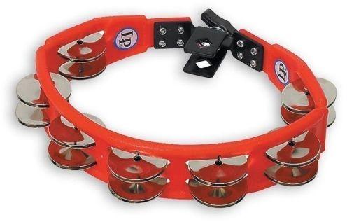 Latin Percussion Tamburyn Cyclop mountable Stalowe dzwonki, czerwony