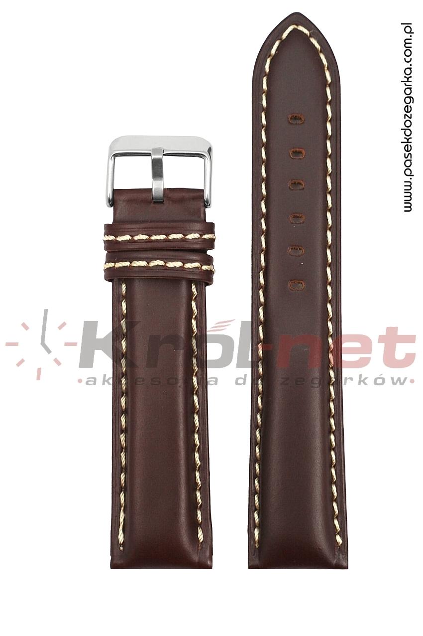 Pasek TK028BR/B/24 - brązowy, wypukły, gładki.