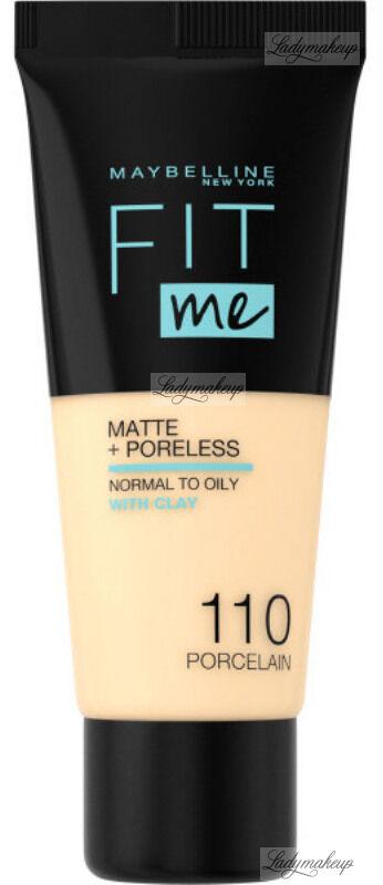 MAYBELLINE - FIT ME! Liquid Foundation For Normal To Oily Skin With Clay - Podkład matujący do twarzy z glinką - 110 PORCELAIN