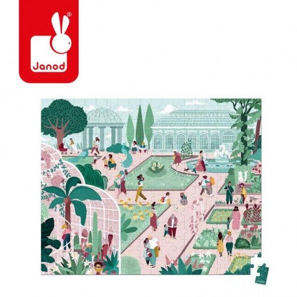 Janod - Puzzle w Walizce Ogród Botaniczny 200 Elementów 7 lat +